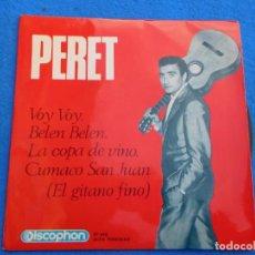 Discos de vinilo: VINILO GRABADO POR PERET, VOY VOY, 1965. Lote 159550314