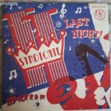 Discos de vinilo: TT SYNDICATE LAST NIGHT / NO MONEY R'N'R ROCKABILLY ORIGINAL ALEMANIA 2013 NM. Lote 159557190