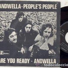 Discos de vinilo: ANDWELLA / PEOPLE'S PEOPLE / SINGLE 45 RPM / EDITADO POR REFLECTION ESPAÑA 1971 NUEVO. Lote 159558734