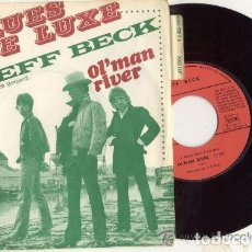 Discos de vinilo: EFF BECK ( ROCK STEWART) BLUES DE LUXE // SINGLE 45 RPM / EDITADO POR EMI COLUMBIA. Lote 159559234