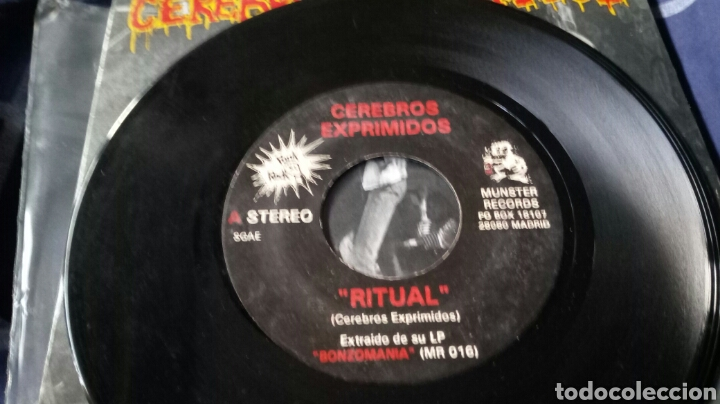 Discos de vinilo: CEREBROS EXPRIMIDOS. RITUAL. EP. MUNSTER RECORDS. PUNK ROCK - Foto 3 - 159567597