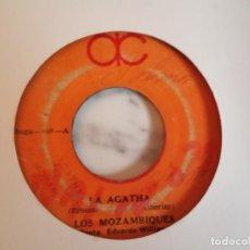 Discos de vinilo: LOS MOZAMBIQUES TRAICION / LA AGATHA LATIN CALYPSO ORIGINAL PANAMÁ 197? G+. Lote 195785502