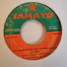 Discos de vinilo: CARLOS MARTINEZ LOS BARCOS EN LA BAHIA/ LO NUESTRO HA TERMINADO LATIN CUMBIA ORIGINAL PANAMÁ 197? G+. Lote 159593506