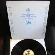 Discos de vinilo: BEATLES GEORGE HARRISON LP PROMOCIONAL USA EDITADO ENTREVISTA DARK HORSE PROMOCION DISCO 33 1/3 RARO. Lote 159617946