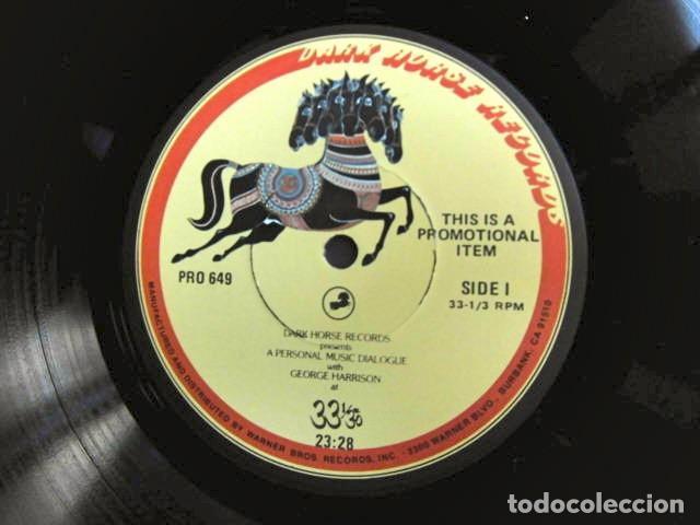 Discos de vinilo: BEATLES GEORGE HARRISON LP PROMOCIONAL USA EDITADO ENTREVISTA DARK HORSE PROMOCION DISCO 33 1/3 RARO - Foto 2 - 159617946