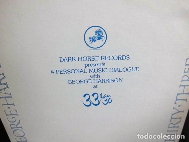 Discos de vinilo: BEATLES GEORGE HARRISON LP PROMOCIONAL USA EDITADO ENTREVISTA DARK HORSE PROMOCION DISCO 33 1/3 RARO - Foto 3 - 159617946