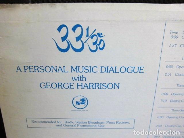 Discos de vinilo: BEATLES GEORGE HARRISON LP PROMOCIONAL USA EDITADO ENTREVISTA DARK HORSE PROMOCION DISCO 33 1/3 RARO - Foto 4 - 159617946