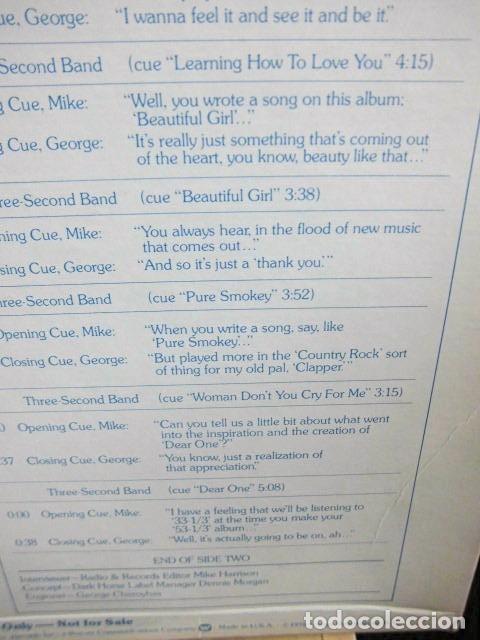 Discos de vinilo: BEATLES GEORGE HARRISON LP PROMOCIONAL USA EDITADO ENTREVISTA DARK HORSE PROMOCION DISCO 33 1/3 RARO - Foto 7 - 159617946