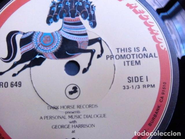 Discos de vinilo: BEATLES GEORGE HARRISON LP PROMOCIONAL USA EDITADO ENTREVISTA DARK HORSE PROMOCION DISCO 33 1/3 RARO - Foto 9 - 159617946