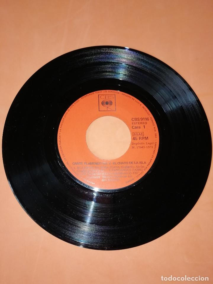 Discos de vinilo: EL CHATO DE LA ISLA. CANTE FLAMENCO VOL. 5. CBS 1972. RARO. - Foto 3 - 159620142