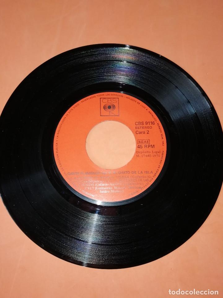Discos de vinilo: EL CHATO DE LA ISLA. CANTE FLAMENCO VOL. 5. CBS 1972. RARO. - Foto 5 - 159620142