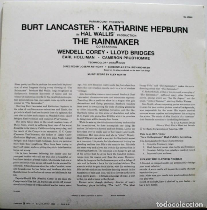 Discos de vinilo: THE RAINMAKER. EL FARSANTE. ALEX NORTH - Foto 2 - 159628266