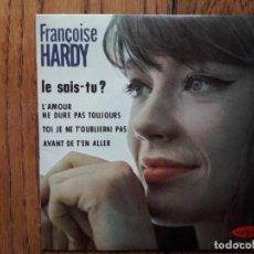 Discos de vinilo: FRANCOISE HARDY - LE SAIS-TU + AVANT DE T'EN ALLER + TOI JE NE T'OUBLIERAI PAS + L'AMOUR NE DURE . Lote 159633950