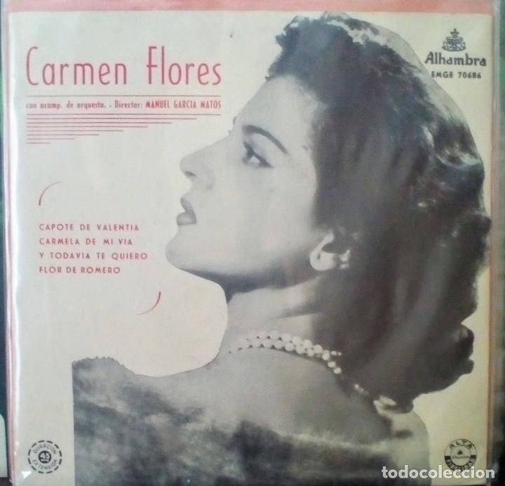 CARMEN FLORES (Música - Discos de Vinilo - EPs - Flamenco, Canción española y Cuplé)