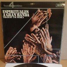 Discos de vinilo: TED HEAT Y SU MÚSICA / ESPIRITUALES A GRAN BANDA / LP - DECCA-1964 / CALIDAD LUJO. ****/****. Lote 159663070