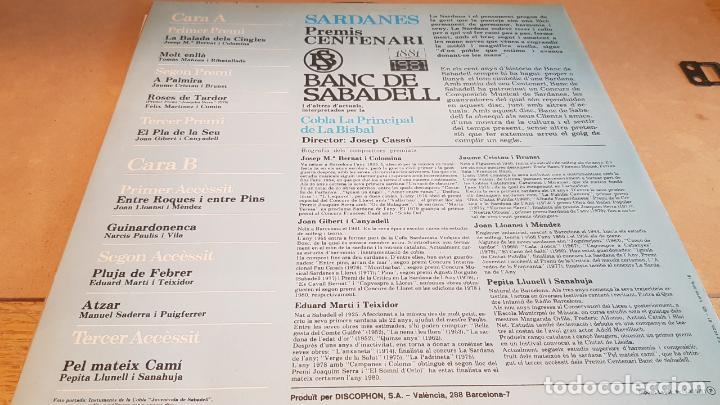 Discos de vinilo: COBLA LA PRINCIPAL DE LA BISBAL / SARDANES / LP - DISCOPHON-1981 / CALIDAD LUJO. ****/**** - Foto 2 - 159667986