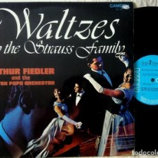 Discos de vinilo: ARTHUR FIEDLER AND THE BOSTON POPS ORCHESTRA - WALTZES BY THE STRAUSS FAMILY - LP UK 1971. Lote 159668762