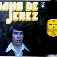Discos de vinilo: NANO DE JEREZ - QUIERO A ESA GITANA, CAMINO DEL OLIVAR, UNA PROMESA...- LP 1977 - HISPAVOX. Lote 179135110