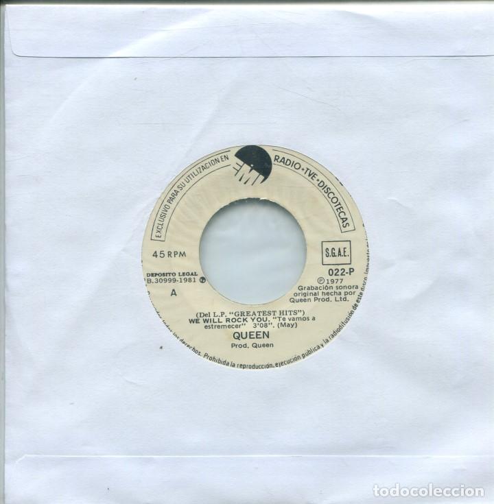 QUEEN / TE VAMOS A ESTREMECER / RAPSODIA BOHEMIA (SINGLE PROMO (ONLY ESPAÑOL) 1977) (Música - Discos - Singles Vinilo - Pop - Rock - Extranjero de los 70)