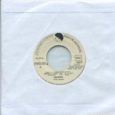 Discos de vinilo: QUEEN / TE VAMOS A ESTREMECER / RAPSODIA BOHEMIA (SINGLE PROMO (ONLY ESPAÑOL) 1977). Lote 159684030