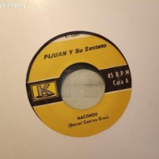 Discos de vinilo: PIJUAN Y SU SEXTETO MACONDO / LA GOTA GORDA SALSA DESCARGA ORIGINAL USA 1970 VG-. Lote 195785536