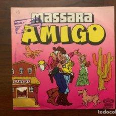 Discos de vinilo: MASSARA ?– AMIGO SELLO: MOVIEPLAY ?– 02.2315/4 FORMATO: VINYL, 7 , 45 RPM, SINGLE, PROMO . Lote 159705702