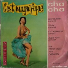 Discos de vinilo: DISCO VINILO SINGLE - ENOCH LIGHT Y SU ORQUESTA ‎– C'EST MAGNIFIQUE, CHA CHA. Lote 159706870