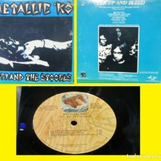 Discos de vinilo: IGGY POP AND THE STOOGES!! METALLIC 'KO! 77, DIRECTO 1973 - 74, 1ST US ORG PRESSING, EX. Lote 159723034