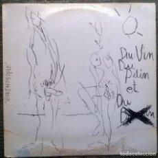 Discos de vinilo: DU VIN DU PAIN ET DU B... EARTHPEOPLE. SUBWAY 003, BELGIUM 1987 MINI LP 12'' 33 RPM. Lote 159741534
