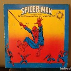 Discos de vinilo: SPIDER-MAN, EL HOMBRE ARAÑA - BANDA SONORA ORIGINAL DE LA SERIE TVE - LP 10 TEMAS (SPIDERMAN. Lote 159759898