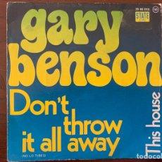 Discos de vinilo: GARY BENSON ?– DON'T THROW IT ALL AWAY = NO LO TIRES SELLO: STATE RECORDS (3) ?– 20 88 010 . Lote 159763446
