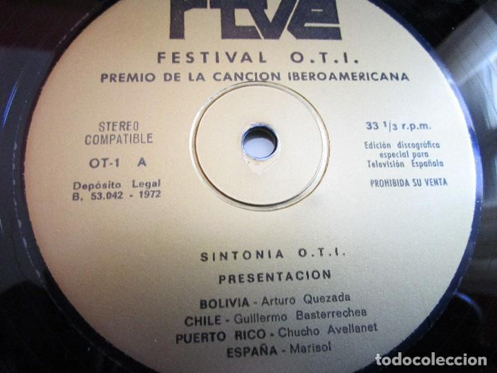 Discos de vinilo: PREMIO DE LA CANCION IBEROAMERICANA ( FESTIVAL OTI ) MADRID 1.972 ( VER FOTOS ) MARISOL - Foto 5 - 159771738