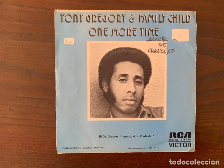 TONY GREGORY & FAMILY CHILD ?– ONE MORE TIME SELLO: RCA VICTOR ?– SPBO-7007 FORMATO: VINYL, 7 (Música - Discos - Singles Vinilo - Funk, Soul y Black Music)
