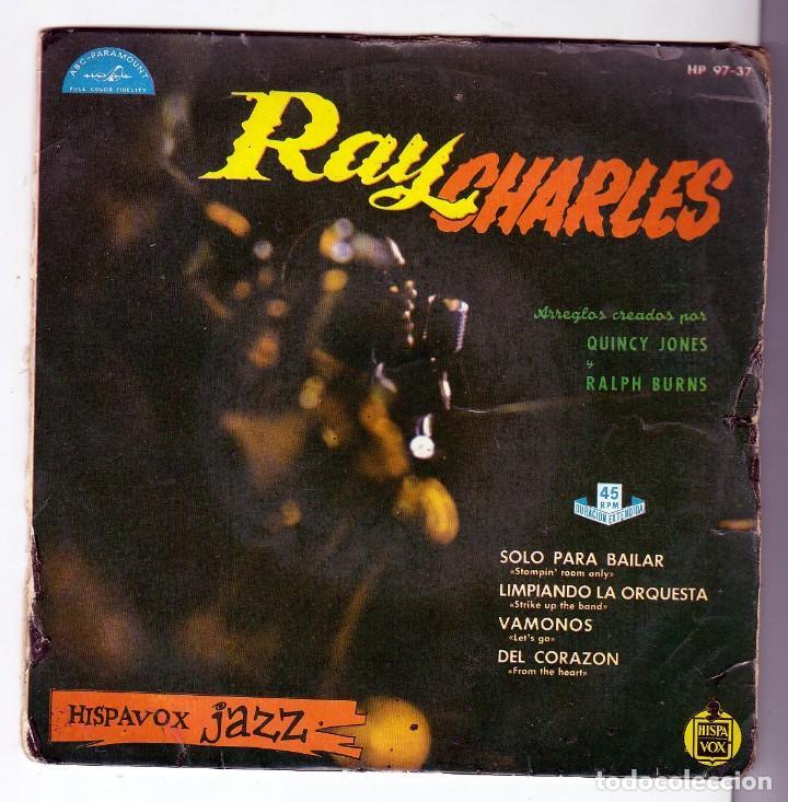 RAY CHARLES - STOMPIN ROOM ONLY + 3 (EP ) HISPAVOX 1961 - RARISIMO!!!- HISPAVOX JAZZ- HAMMOND ORGAN (Música - Discos de Vinilo - EPs - Jazz, Jazz-Rock, Blues y R&B)