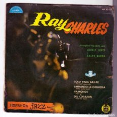Discos de vinilo: RAY CHARLES - STOMPIN ROOM ONLY + 3 (EP ) HISPAVOX 1961 - RARISIMO!!!- HISPAVOX JAZZ- HAMMOND ORGAN. Lote 159773706