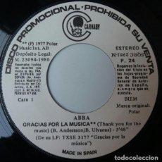 Discos de vinilo: ABBA ?– GRACIAS POR LA MÚSICA = THANK YOU FOR THE MUSIC SELLO: CARNABY ?– P. 24 FORMATO: VINYL, 7 . Lote 159774110