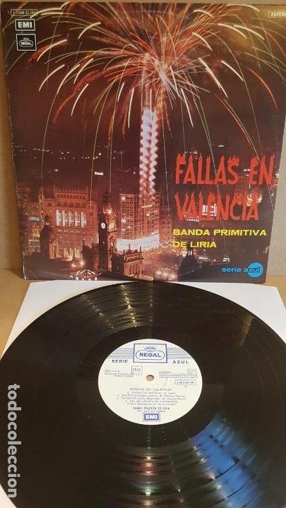 BANDA PRIMITIVA DE LIRIA / FALLAS EN VALENCIA / LP - EMI-REGAL-1971 / VINILO DE LUJO. ***/**** (Música - Discos - LP Vinilo - Country y Folk)