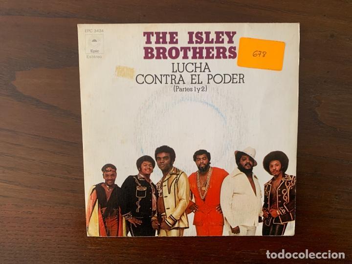 THE ISLEY BROTHERS ?– LUCHA CONTRA EL PODER (PARTES 1 Y 2) SELLO: EPIC ?– EPC 3434 FORMATO: VINYL, 7 (Música - Discos - Singles Vinilo - Funk, Soul y Black Music)