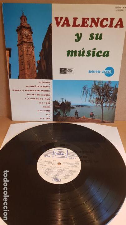VALENCIA Y SU MÚSICA / LP - EMI-REGAL-1967 / SERIE AZUL / CALIDAD LUJO. ****/**** (Música - Discos - LP Vinilo - Country y Folk)