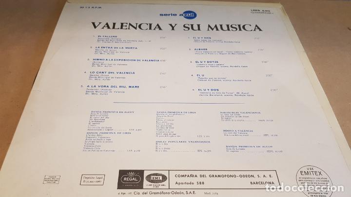 Discos de vinilo: VALENCIA Y SU MÚSICA / LP - EMI-REGAL-1967 / SERIE AZUL / CALIDAD LUJO. ****/**** - Foto 2 - 159778174