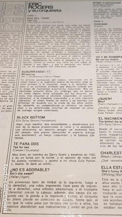 Discos de vinilo: ERIC ROGERS Y SU ORQUESTA / LOS LOCOS AÑOS VEINTE / LP - DECCA-1963 / CALIDAD LUJO. ****/**** - Foto 3 - 159783842
