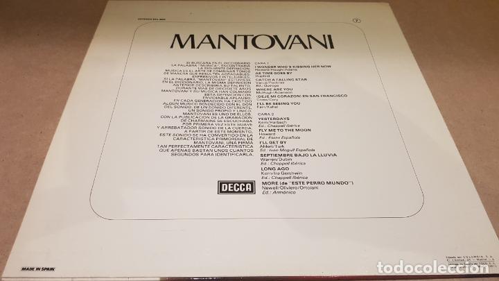 Discos de vinilo: MANTOVANI / EL INCOMPARABLE MANTOVANI / LP - DECCA-1977 / CALIDAD LUJO. ****/**** - Foto 2 - 159795798