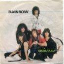 Discos de vinilo: RAINBOW / STONE COLD / ROCK FEVER (SINGLE ESPAÑOL 1982). Lote 159820330