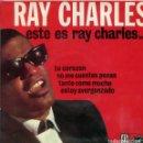 Discos de vinilo: RAY CHARLES / NO ME CUENTES PENAS + 3 (EP 1962). Lote 159820706