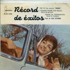 Discos de vinilo: RECORD DE EXITOS (VARIOS) BILLY WADE / THE FLY - FRAN COOPER / PLEASE, MR,POSTMAN + 2 (EP 1961). Lote 159820786