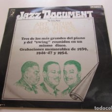 Discos de vinilo: LP. JAZZ DOCUMENT THE SWING PIANO ART TATUM, EARL HINES, TEDDY WILSON VOLUMEN 7 CS125. Lote 159826322