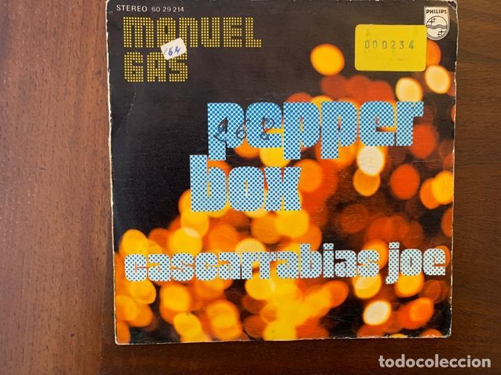 Discos de vinilo: Manuel Gas ?– Pepper Box Sello: Philips ?– 60 29 214 Formato: Vinyl, 7 , Single País: Spain - Foto 2 - 159835522