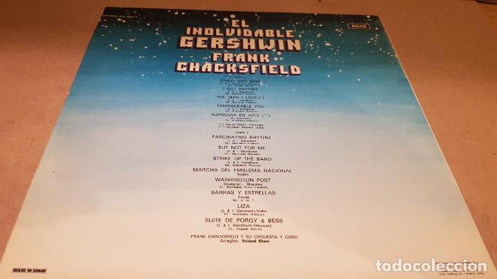 Discos de vinilo: FRANK CHACKSFIELD / EL INOLVIDABLE GERSHWIN / LP - DECCA-1975 / CALIDAD LUJO. ****/**** - Foto 2 - 159842402