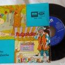 Discos de vinilo: CUENTOS INFANTILES - CAPERUCITA / PULGARCITO - SINGLE ODEON 16.026. Lote 159843444