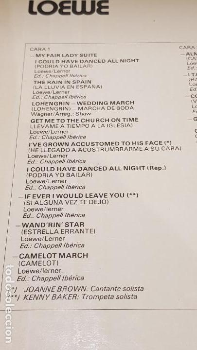 Discos de vinilo: FRANK CHACKSFIELD INTERPRETA LERNER & LOEWE / LP - DECCA-1977 / CALIDAD LUJO. ****/**** - Foto 3 - 159845882